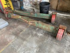 One Pair of Steel Fabricated Bogeys, each 2.5m wide overall. Please read the following important