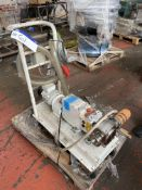 Pureflo 26150-3810 STAINLESS STEEL LOBE PUMP, serial no. 16077, with geared electric motor drive,