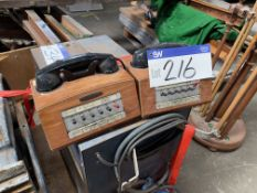 Two Dictograph Period Telephone Handsets. Please read the following important notes:- Assistance