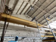Herbert Morris 5 ton cap. Twin Girder Travelling Overhead Crane, approx. 10.6m wide, with hand