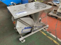 Guttridge STAINLESS STEEL MOBILE HOPPER FEED UNIT, serial no. 266815, year of manufacture 03/04.