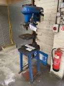 Meddings Bench Drill, serial no. LT59615, three phase, with steel stand. Please read the following