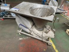 Guttridge STAINLESS STEEL MOBILE HOPPER FEED UNIT, serial no. 280701, date of manufacture 04/05.