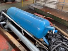 Vertical Welded Steel Air Receiver, approx. 500mm x 1.5m. Please read the following important
