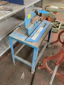 200mm jaw Bar Cropper, with steel bench. Please read the following important notes:-Assistance