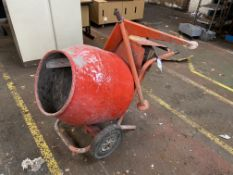 Belle Mini 140 Petrol Engined Cement Mixer, with stand. Please read the following important