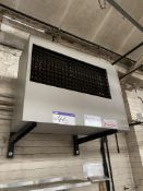 Accorroni Twin Fan Gas Fired Suspended Space Heater (no details). Please read the following