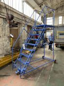 Powell Nine Rise Mobile Warehouse Ladder. Please read the following important notes:- Assistance