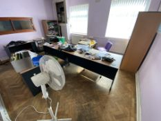 Loose Contents of Room, including desk, cupboards, tables, hat and coat stand, chair and pedestal