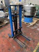 Advanced ST-250-1830-M-BE 250kg cap. Hand Hydraulic Pedestrian Operated Fork Lift, serial no. 1839-
