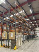 Dexion Speedlock/ Storax SP80 Ten Bay Mainly Four Tier Pallet Rack, approx. 6.3m high x approx. 27m