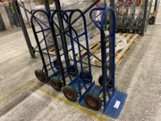 Four Blue AluTruk by BIL sack trucks Please read the following important notes:-Collections will