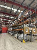 Dexion Speedlock/ Storax SP80 Ten Bay Three Tier Pallet Rack, approx. 5.9m high x approx. 27m long