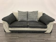 Seven BrightHouse grade B refurbished Rihanna three-seater sofas, asset numbers 7261183737981,