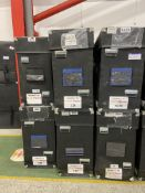 """Six TV flight cases 710mm x 1210mm x 390mm to hold up to 65"""" TV (Please not GPS Tracking System is"""