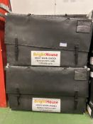 """Four TV Flight cases 1070mm x 1710mm x 370mm to hold up to 75"""" TV (Please not GPS Tracking System"""