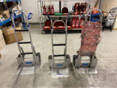 Three AluTruk sack trucks Please read the following important notes:-Collections will not commence