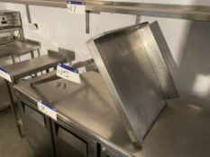 Stainless Steel Bench Corner Piece, approx. 600mm