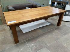 AMERICAN OAK TABLE, approx. 2.45m x 1.45m