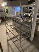 Four Tier Wire Mesh Stainless Steel Shelving Unit,