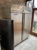 Double Door Stainless Steel Mobile Freezer, approx