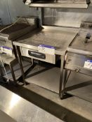 Stainless Steel Two Tier Bench, with fitted drawer