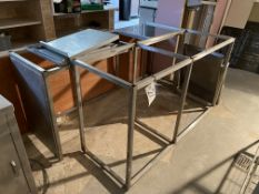 Two Stainless Steel Bench Frames, with six bench t