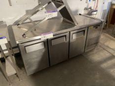 Three Door Mobile Stainless Steel Refrigeration Ca