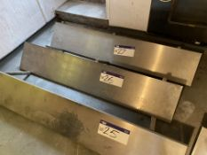 Stainless Steel Shelf, approx. 1.65m x 300mm