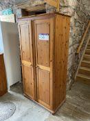 Double Door Wardrobe, approx. 900mm x 500mm x 1.8m