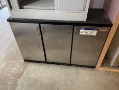 Serrco Three Door Counter Freezer, approx. 1.35m x