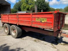 Herbst 10 Ton TWIN AXLE DROPSIDE TIPPING TRAILER,