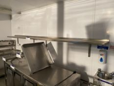 Two Stainless Steel Wall Mounted Shelves, each app