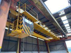 Crane Express Two x 5.2T SWL TWIN GIRDER TRAVELLING OVERHEAD CRANE, (crane no. 3), reference no.