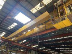SWL 2 x 15T TWIN GIRDER TRAVELLING OVERHEAD CRANE, CE510 (crane no. 3), approx. 19m span, (