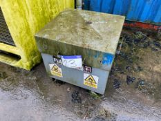 Armor Flambank Steel Storage Unit, approx. 700mm x 640mm x 570mm deep, with fork lifting channels,