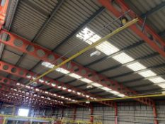 Crane Express Ltd 250kg SWL Overhead Runway, approx. 17m long, reference no. CE214, with four roof