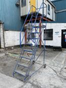 Eight Rise Mobile Warehouse LadderPlease read the following important notes:- Removal of Lots: A