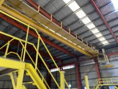 Crane Express 2 x 5.2T SWL TWIN GIRDER TRAVELLING OVERHEAD CRANE, approx. 24.7m span (incomplete, no