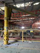 Isma Swing Jib Crane, serial no. 17035, understood to have 200kg cap., approx. 4m clearance to