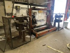PIPE DEBURRING ROLLER GRINDING MACHINE, approx. 2.3m wide on frame with two double end geared