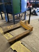 2000kg SWL Hand Hydraulic Beam Truck, serial no. 0000745443, 550mm clearance between forks x