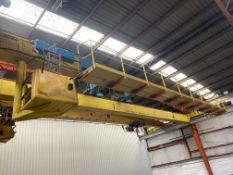 2 X 5T SWL TWIN GIRDER TRAVELLING OVERHEAD CRANE, no. 1787-76, (incomplete – no carriages or