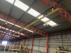 Crane Express Ltd 250kg SWL Overhead Runway, approx. 17m long, reference no. CE213, with four roof