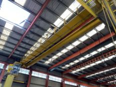 Crane Express 2 x 5.2T SWL TWIN GIRDER TRAVELLING OVERHEAD CRANE, reference no. CE107, approx. 24.7m