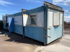 Sibcas PORTABLE JACKLEG OFFICE BUILDING, approx. 12m long, with internal partitioningPlease read the