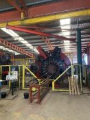 500kg SWL FREE STANDING PILLAR JIB SWING CRANE, serial no. C2559-01, approx. 4m high and approx. 6.