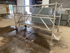 Youngman Mobile Tubular Alloy Platform, 2.4m longPlease read the following important notes:- Removal