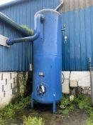 Hoval Farrar Vertical Welded Steel Air Receiver, approx. 1.5m dia. x 3.5m deepPlease read the