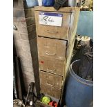 Six Drawer Steel Filing Cabinet, with contents(this lot is subject to 15% buyer's premium)Please